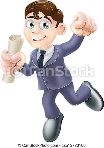 Hombre de negocios con pergamino - csp13720106