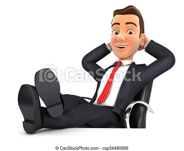 Hombre de negocios relajado - csp34490569