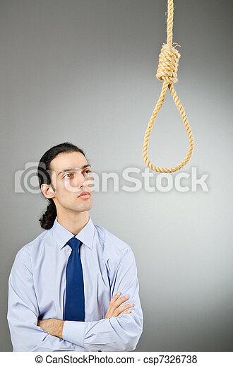hombre de negocios, suicidio, pensamientos - csp7326738