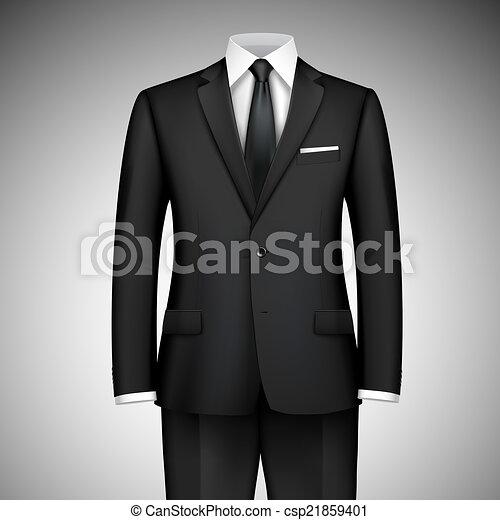 Traje de hombre de negocios - csp21859401