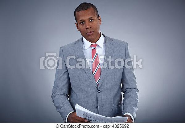 Hombre de negocios en traje - csp14025692