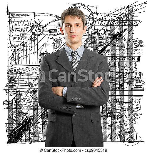 Hombre de negocios en traje - csp9045519