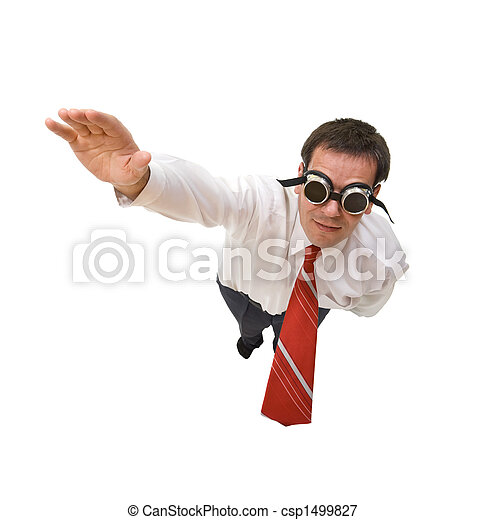 Superman hombre de negocios volando - csp1499827