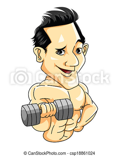 Hombre musculoso - csp18861024