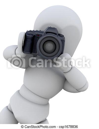 3D con cámara digital - csp1678836