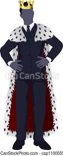 Hombre de negocios rey - csp11005596