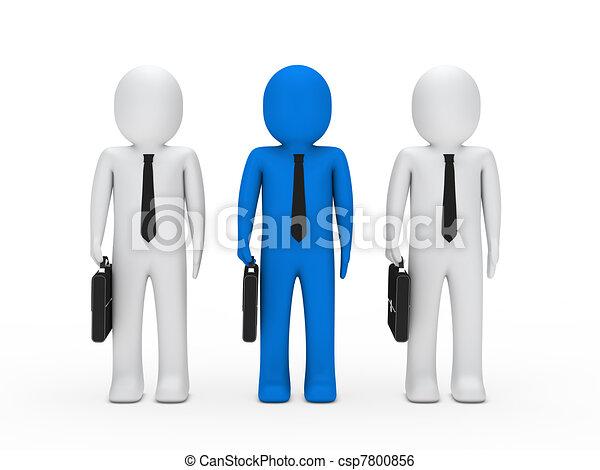 Equipo de hombres de negocios - csp7800856