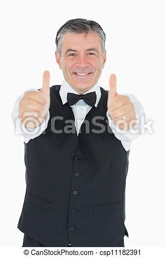 Hombre feliz en traje - csp11182391