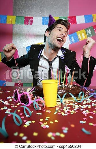 Feliz gestor en fiesta - csp4550204