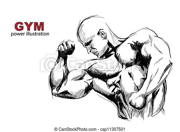 Hombre fuerte - csp11307501