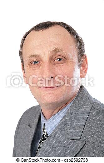 Hombre con traje gris - csp2592738