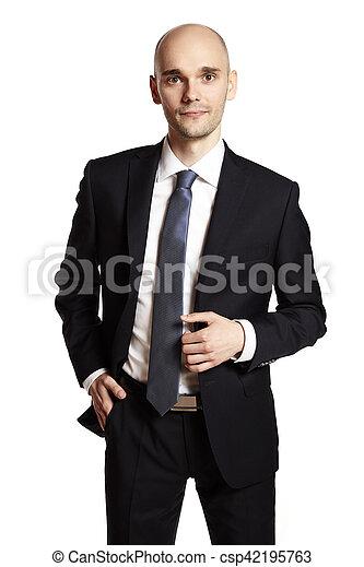 Hombre de traje negro - csp42195763