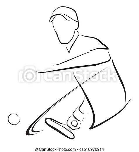 Simbolo de jugador de tenis - csp16970914