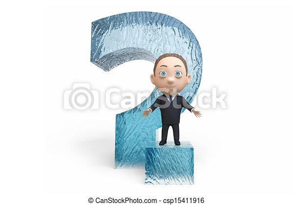 Un hombre con un signo de interrogación - csp15411916