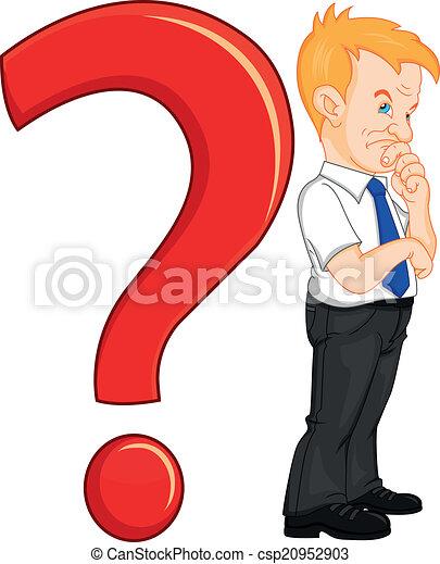 Un hombre con un signo de interrogación - csp20952903