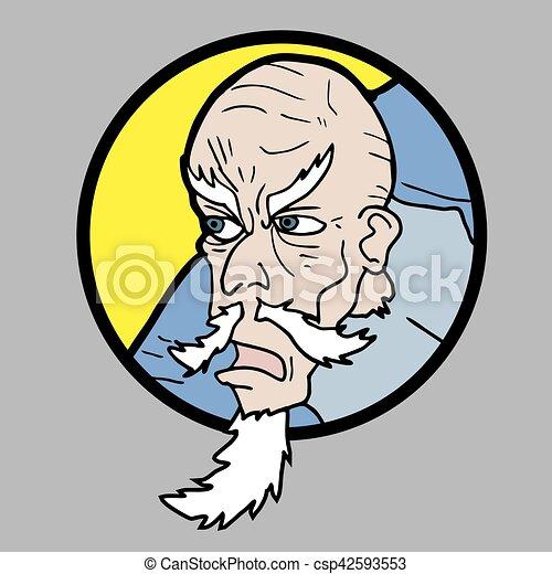 Cara de viejo - csp42593553