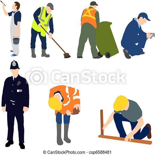 Profesiones - hombres en el trabajo set 01 - csp6588481