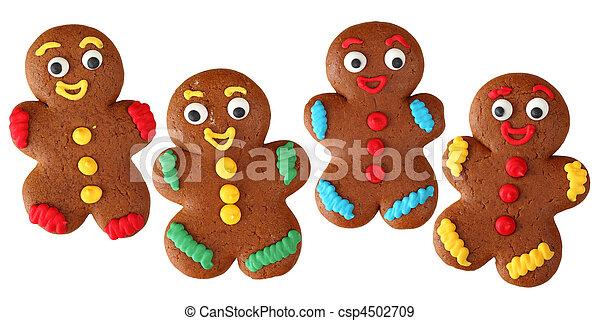 Hombres de pan de jengibre - csp4502709