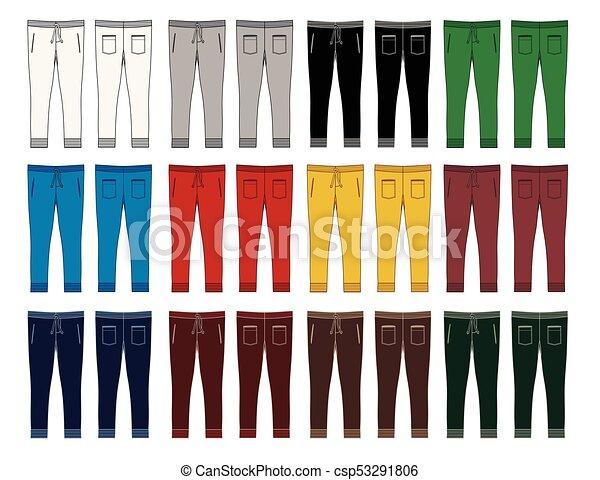 Los pantalones de moda de los hombres son coloridos - csp53291806