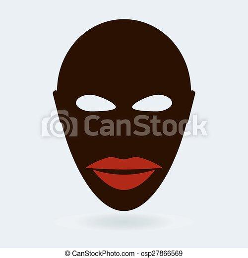 Los hombres negros se enfrentan - csp27866569