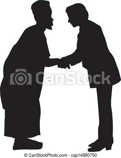 Dos hombres estrechando la mano - csp14980750