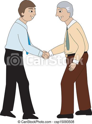 Dos hombres estrechando la mano - csp15093508