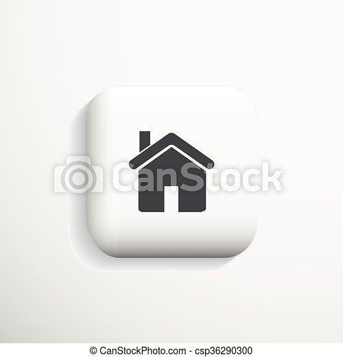 Home 3d Icon. Vector eps10. - csp36290300