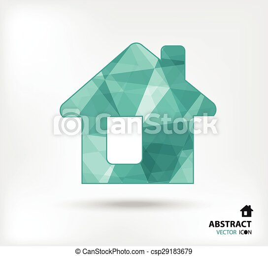 Home abstract vector icon geometric polygon - csp29183679