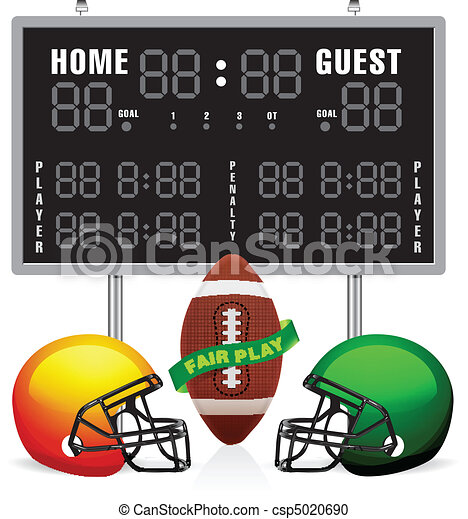 home and guest scoreboard for american football vector clipart rh canstockphoto com scoreboard clip art scoreboard images clip art