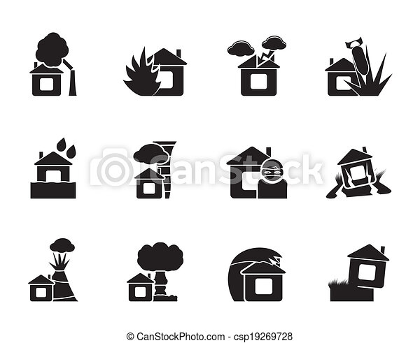 home and house insurance icons - csp19269728