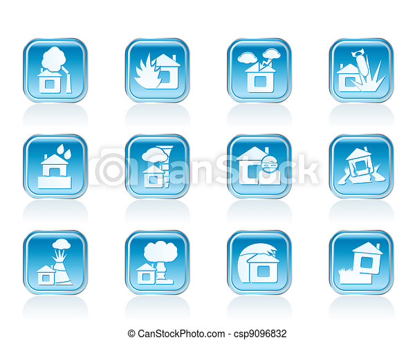 home and house insurance icons - csp9096832