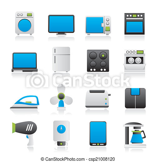 home appliance icons - csp21008120