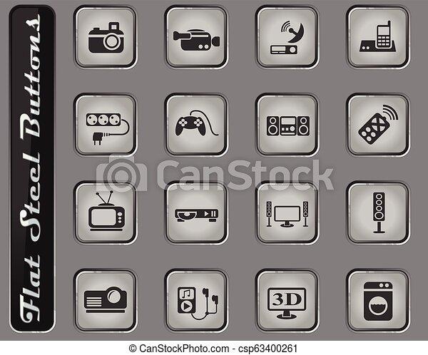 home appliances icon set - csp63400261