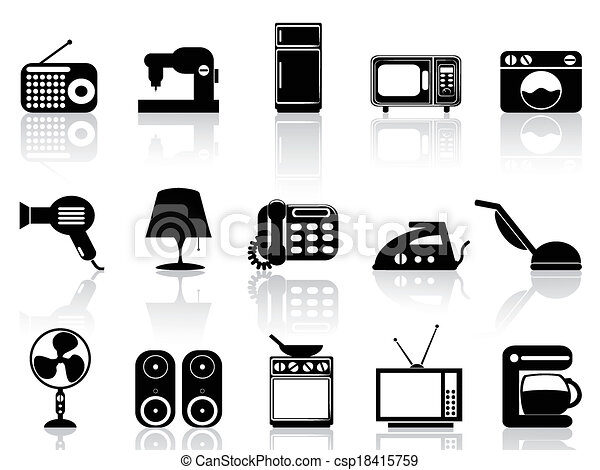 Home appliances icon set - csp18415759