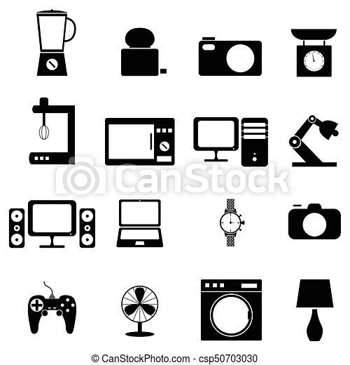 home appliances icons set - csp50703030