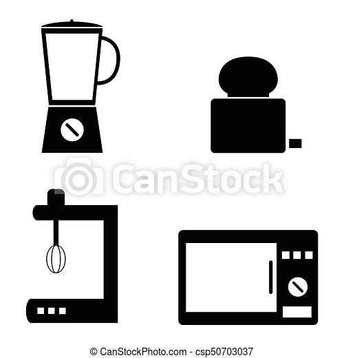 home appliances icons set - csp50703037