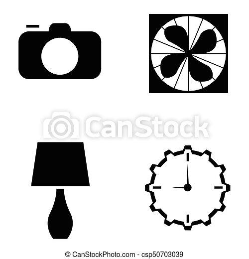 home appliances icons set - csp50703039