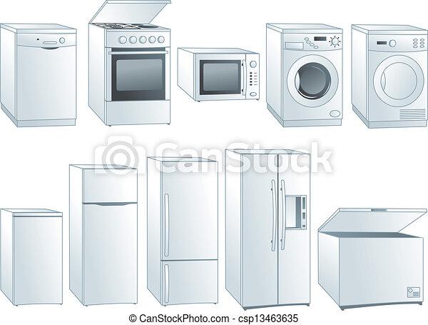 Home appliances illustrations set - csp13463635