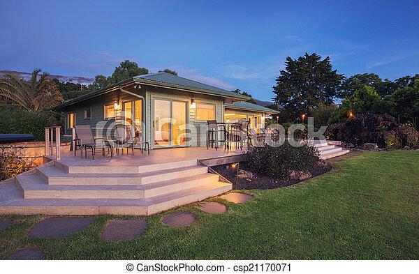 Home at Dusk - csp21170071