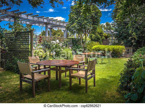Home backyard summer garden - csp62862621