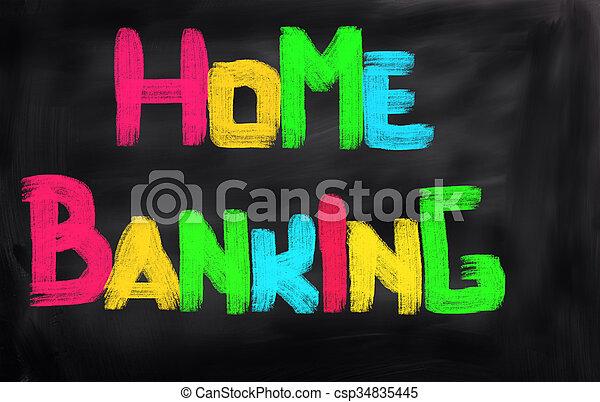 Home Banking Concept - csp34835445