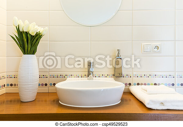 Home bathroom like spa - csp49529523