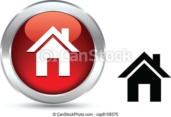 Home button. - csp8108375