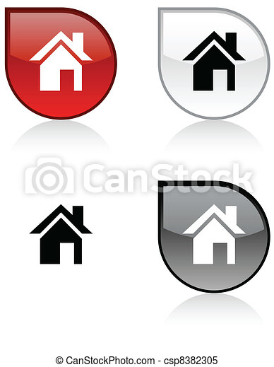Home button. - csp8382305