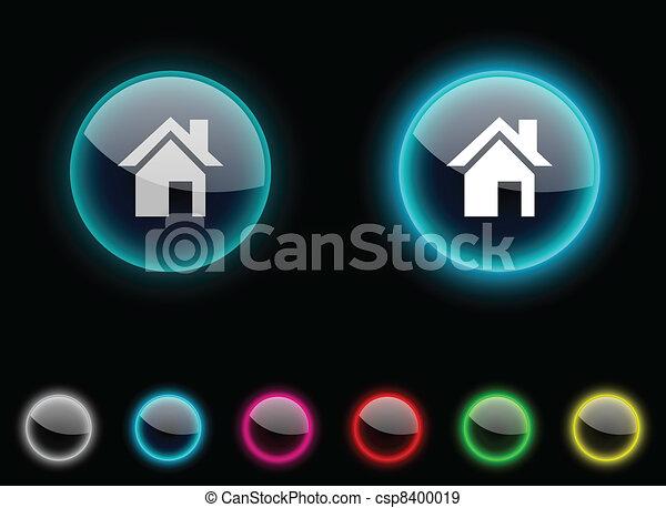 Home button. - csp8400019