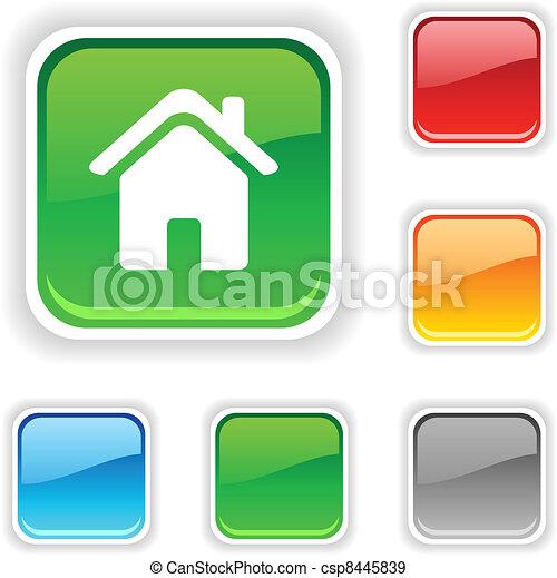 Home button. - csp8445839