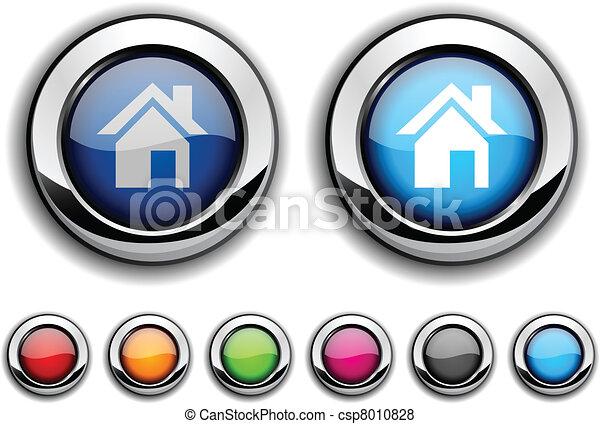 Home button. - csp8010828