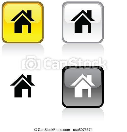 Home button. - csp8075674