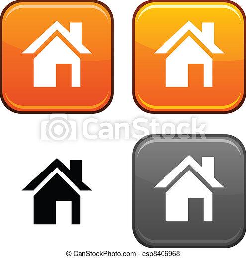 Home button. - csp8406968