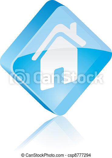 Home button. - csp8777294